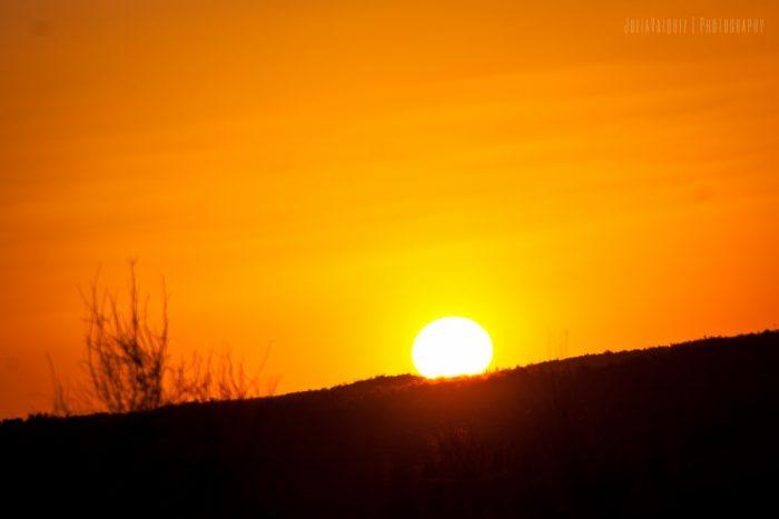 Puesta de sol en Kyzyl Kum